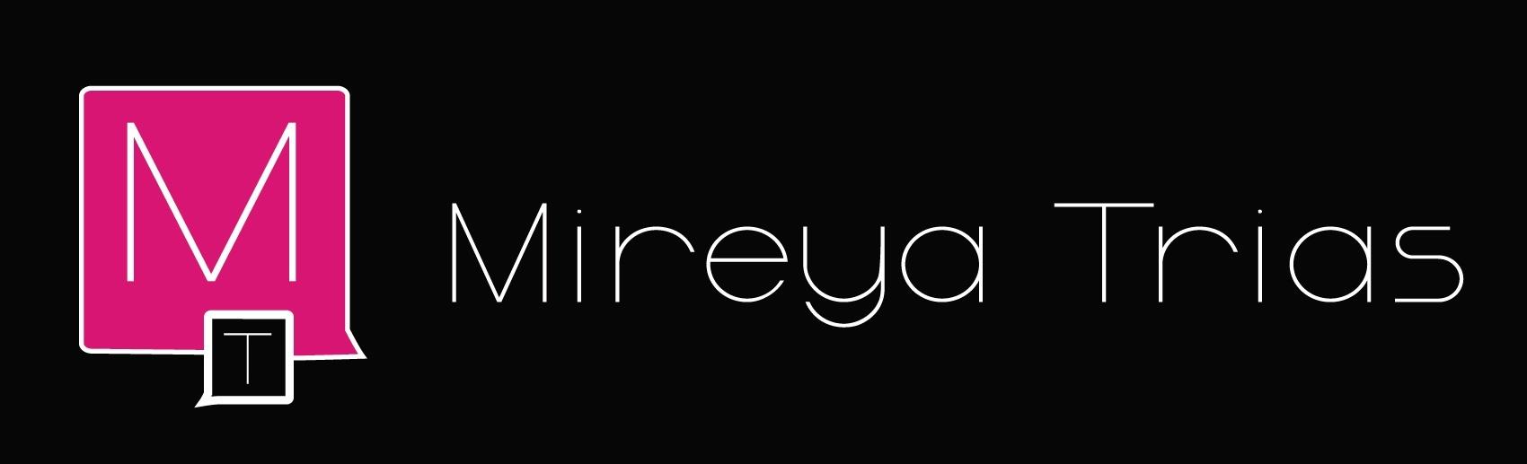 Logo cabecera Mireya Trias fondo negro