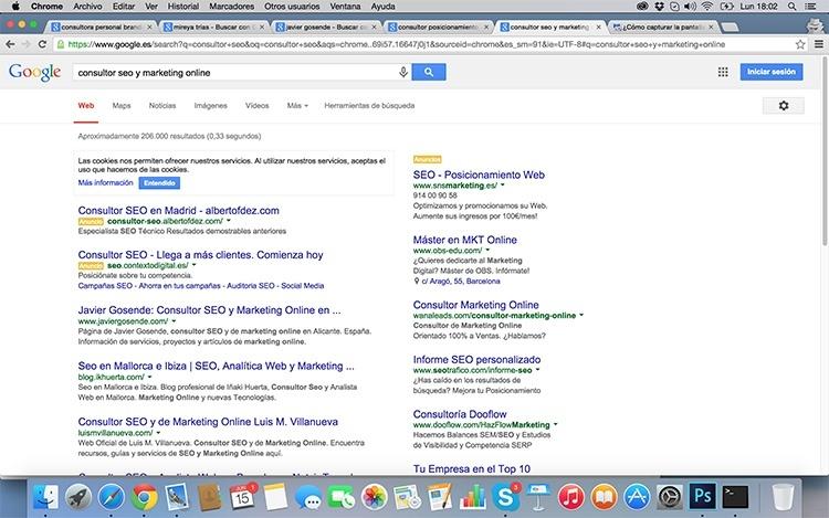 Búsqueda consultor SEO y Marketing Online