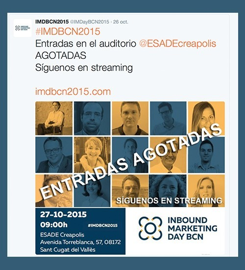 Entradas agotadas del Inbound Marketing Day Barcelona