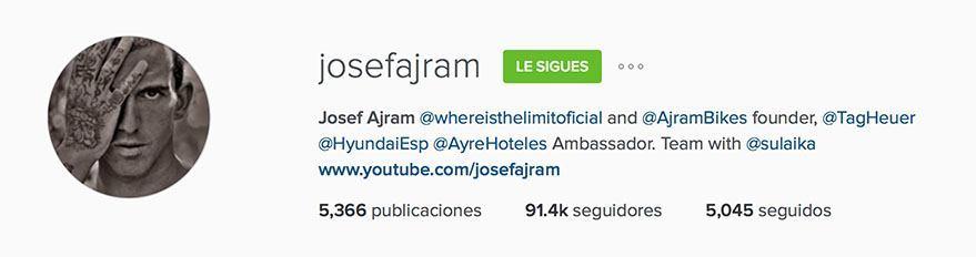 Instagram Josef Ajram