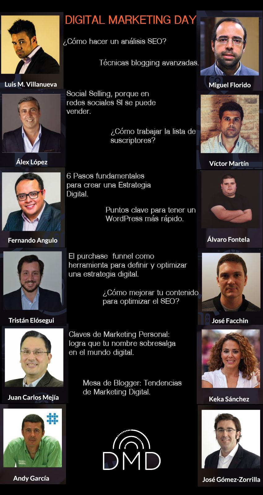 Infografia del evento digital marketing day