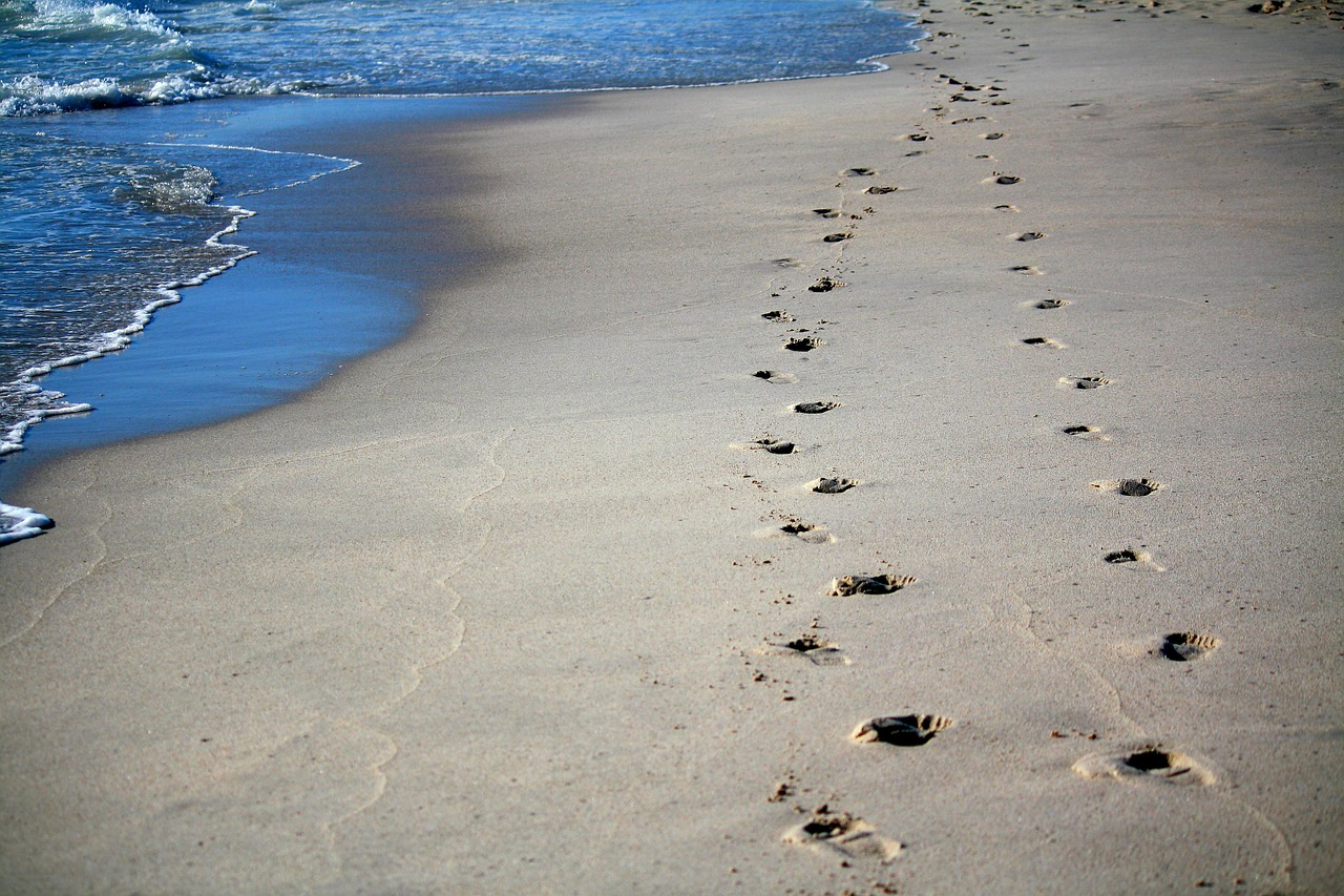 playa huella
